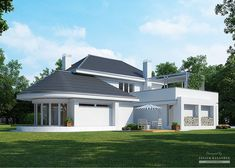 Projekt domu LK&1114 Duplex House Plans, Apartment Floor Plans, Dream House Plans, Modern House Plans, House Floor Plans, Village House Design, Kerala House Design, Small House Design, Modern House Design