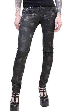 Tripp Skull Print Jeans  68 Printed Skinny Jeans, Skull Print, Print Jeans,  Confusion 678b0c001d