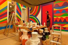 "Sol LeWitt's studio (Solomon ""Sol"" LeWitt (September 9, 1928 – April 8, 2007) was an American artist )"