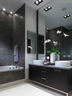 stylish black bathroom