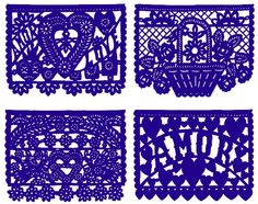 "Papel picado (""perforated paper"") is the Mexican folk art of papercutting into elaborate designs. Description from pinterest.com. I searched for this on bing.com/images"