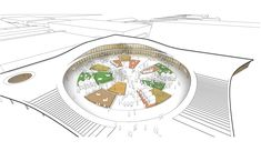 Denmark's Largest Exhibition Centre To Be Further Expanded by Urban Agency,Exhibition Square Diagram. Image © Urban Agency