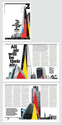 G2 cover and inside spreads on the privatisation of London.