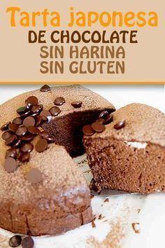 Take only 3 ingredie - Pan sin Gluten Recetas Foods With Gluten, Gluten Free Recipes, Japanese Chocolate, Chocolate Sin Gluten, Cake Chocolate, Muffins, Lactose Free, Healthy Desserts, Street Food
