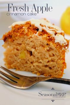 Recipe for fresh Apple Cake - taste's like an apple pie only easier to make. Apples and Cinnamon are paired in this simple, moist and delicious favorite.