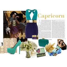 Project Zodiac : Capricorn, created by nana990 on Polyvore