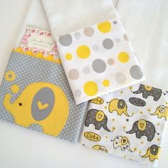 Kit Baby - Elefante no Baby Elefante, Baby Sewing Projects, Baby Kit, Baby Crafts, Burp Cloths, Baby Quilts, John John, New Baby Products, Patches