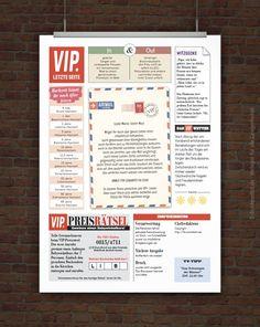 VIP Hochzeitszeitung Rückseite