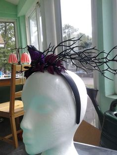 Witch-Inspired Fascinators - This Birdy Halloween Fascinator Channels the Wicked Witch of the West