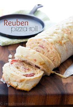 Corned Beef and Cabbage are the main players in this Reuben Pizza Roll, which is a fun twist to the classic deli sandwich!