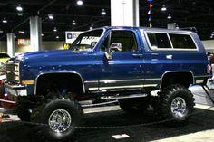 K5 1500 Blazer...this is the vehicle I wanted for high school graduation. Midnight blue. Instead I got a Suzuki Swift. WTH??