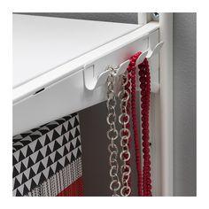 ALGOT Cabide c/4 ganchos IKEA Basta encaixar no suporte ALGOT; não são precisas ferramentas.