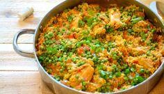 Saffron Rice with Chicken and Vegetable Brazilian Recipe
