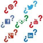 Infografia logotipos en redes sociales: escala