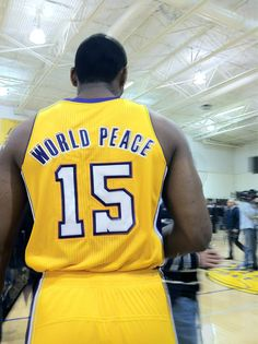 He changed his name to World Peace.?? Same guy that punched a fan in the face 2yrs ago lol