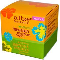 Alba Botanica, Hawaiian Moisture Cream, Jasmine   увлажняющий и питательный