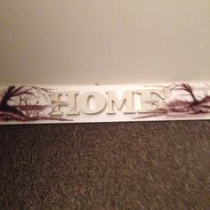 Home sign and air brushed . Look for twinklingtreasures on Facebook Home Signs, Airbrush, Tie Clip, Candy, Facebook, Sweet, Toffee, Sweets