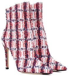 56a49a7804cb Christian Louboutin - So Kate 100 Embellished Tweed Ankle Boots ...