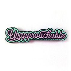 Be proud of how horrible and standoffish you are. Choose from 2 colors! 2 x .5 enamel pin. 2 rubber clutches on back.