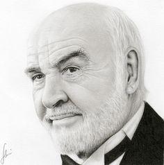 sean connery by hrm n - Pencil Drawings by hrm-n  <3 <3