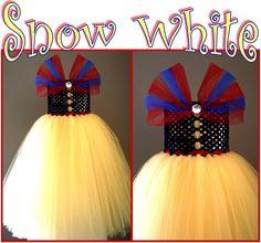 Snow White Tutu Dress Halloween Costume.