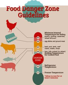 danger zone food safety temperature charts cook, reheat, chill Temperature of an Object restaurant food safety guidelines avoid the danger zone