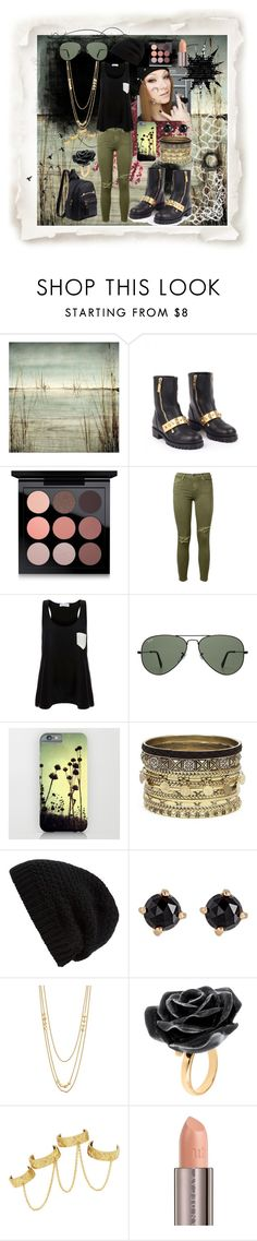 """""""Simply You"""" by sophia-pawz ❤ liked on Polyvore featuring Leftbank Art, Alexander McQueen, MAC Cosmetics, Current/Elliott, Solid & Striped, Ray-Ban, Daytrip, Rick Owens, Irene Neuwirth and Gorjana"""