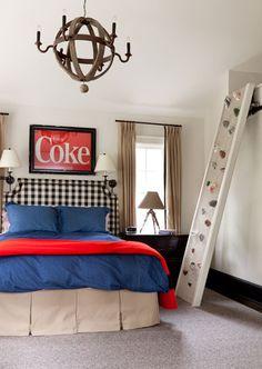 rock wall in the kids bedroom!