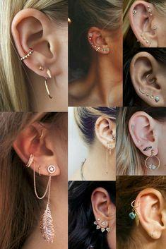 77 Ear piercing ideas for Women. Cute and Beautiful Ear piercing Ideas. 77 Ear piercing ideas for Women. Cute and Beautiful Ear piercing Ideas. Piercing 77 Ear piercing ideas for Women. Fake Piercing, Ear Peircings, Ear Piercings Tragus, Cute Ear Piercings, Multiple Ear Piercings, Cartilage Earrings, Stud Earrings, Jacket Earrings, Types Of Piercings