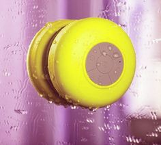 Abco Tech Water Resistant Wireless Bluetooth Shower Speaker with Suction Cup and Hands-Free Speakerphone, Pink Zebra Latest Gadgets, Cool Gadgets, Tech Gadgets, Shower Speaker, Mini Bluetooth Speaker, All The Small Things, Cool Electronics, Waterproof Speaker, Tech Updates