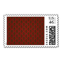 Red & Green #Christmas Damask Stamps