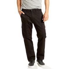 Men's Levi's® 541™ Athletic-Fit Stretch Cargo Pants, Size: 42X30, Black
