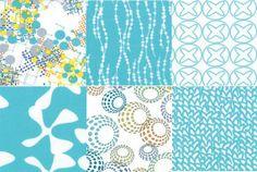 Half Yard BUNDLE of 6 fabrics. Sphere Collection from Moda. Tillalili Fabrics Etsy shop -  $27.00
