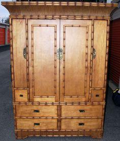 Bamboo furniture - Ficks Reed-Armoire- wardrobe tv cabinet #FicksReed