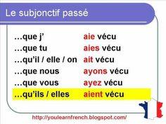 French Lesson 153 - The Past Subjunctive conjugation - Le subjonctif passé conjugaison
