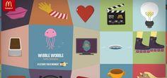 Momentos especiais vividos por consumidores ganham ilustrações animadas em um caprichado site