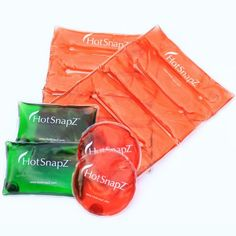 Hand & Body Warmers - HotSnapZ Reusable Warmers. Reusable Heat Packs and Hand Warmers - Variety Pack. Provides Instant Heat. Reusable! - Regenerated by placing in boiling water. Does not fill up our landfills like disposable hand warmers. Reaches temperatures up to 130F - Safe and Natural.