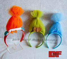 Troll Hair Headbands - Troll Inspired Headbands - Troll Tulle Hair Headbands - Poppy Inspired Headband - DJ Suki Inspired Headband by DFRibbonDesigns on Etsy https://www.etsy.com/listing/490080124/troll-hair-headbands-troll-inspired