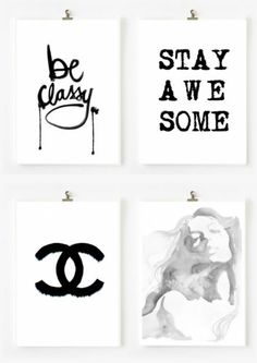 chanel design watercolor rose ILLUSTRATION Wall art print Decor Home Decor #11 #art #wall #decor #gift #chanel #diy #craft #artist #fashion #clothes #classy #coco