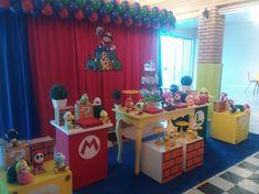 Imagem relacionada Super Mario Birthday, Mario Birthday Party, Super Mario Party, 22nd Birthday, Super Mario Bros, Birthday Parties, Video Game Party, Party Games, Mario E Luigi