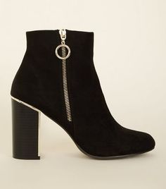 Level up your look with a pair of women's boots from New Look. Featuring different finishes and heel heights, shop today with free delivery options. New Look Uk, Swatch, Pretty Toes, Toe Rings, Shoe Collection, Black Boots, Footwear, Lace Up, Lady
