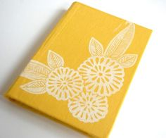 linoleum block printed journal - inspiration!