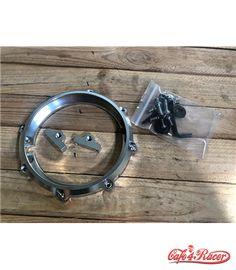 MONZA 5.75 Inch CNC Machined Aluminum LED Headlight Surround - Polished Aluminium Cafe Racer Parts, Led Headlights, Cnc Machine, Custom Bikes, Desktop Cnc, Custom Motorcycles, Custom Bobber