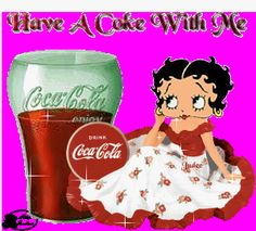 Betty Boop sitting next to a glass of ice cold coca-cola - Click to play