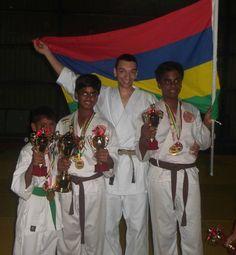 Mauritius invitational karate championship May 2015. Sensei Marcus Ingham, 1st in individual kata and kumite, 2nd in team kumite!
