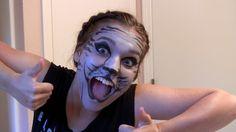 KITTY CAT Halloween Makeup Tutorial - easy how to! #halloween #makeup