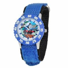 Thomas and Friends Kids' W000718 Kid's Stainless Steel Time Teacher Blue Bezel Blue Velcro Strap Watch Thomas and Friends. $37.99. Stainless steel case. Durable mineral crystal. 1 year limited manufacturer's warranty. Accurate quartz movement. Water-resistant to 30 M (99 feet). Meets or exceeds all US Government requirements and regulations for children's watches