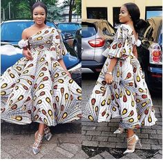 Creative Short Ankara Gowns Styles for Beautiful Ladies.Creative Short Ankara Gowns Styles for Beautiful Ladies African Print Dresses, African Dresses For Women, African Attire, African Wear, African Fashion Dresses, African Women, Ankara Fashion, Ankara Gown Styles, Ankara Gowns