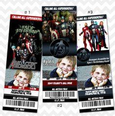 Avengers Invitation, Birthday Party Ticket, Custom Photo Invitation