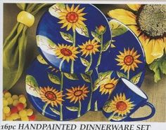 Blue Jean Chef 16-pc. Everyday Service for 4 Sunflower Dinnerware ...
